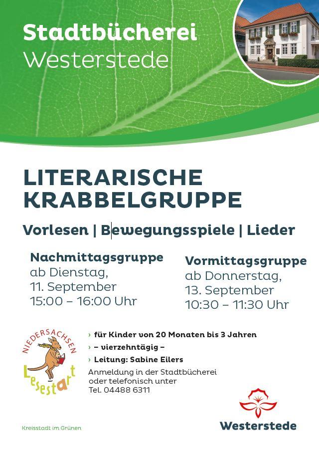Plakat Literarische Krabbelgruppe